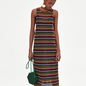 Dresses & Skirts - Multi Color Net Sleeveless Dress
